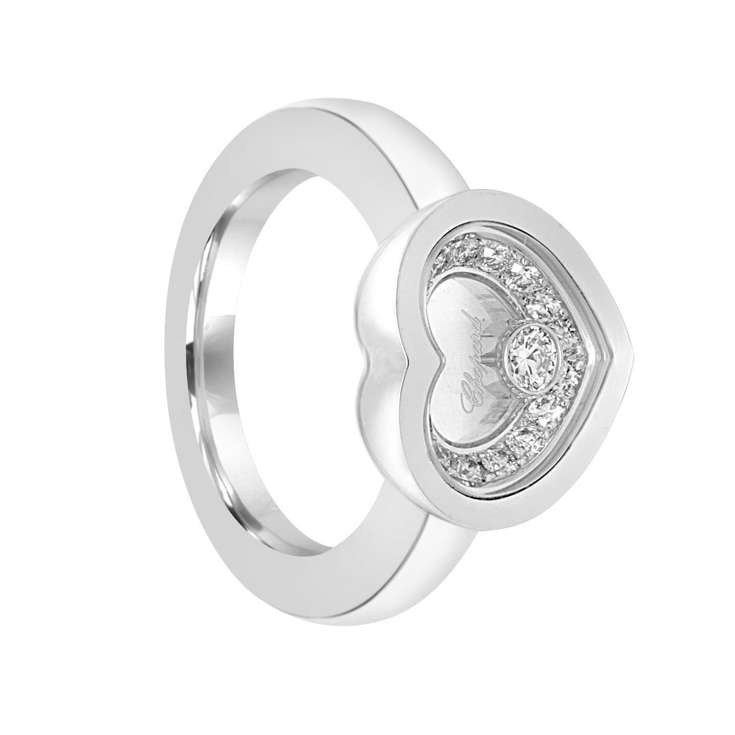 Anello in oro bianco con diamante ct. 0,34 - CHOPARD