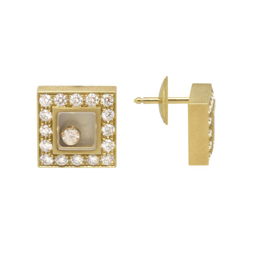 Orecchini in oro giallo con diamanti - CHOPARD