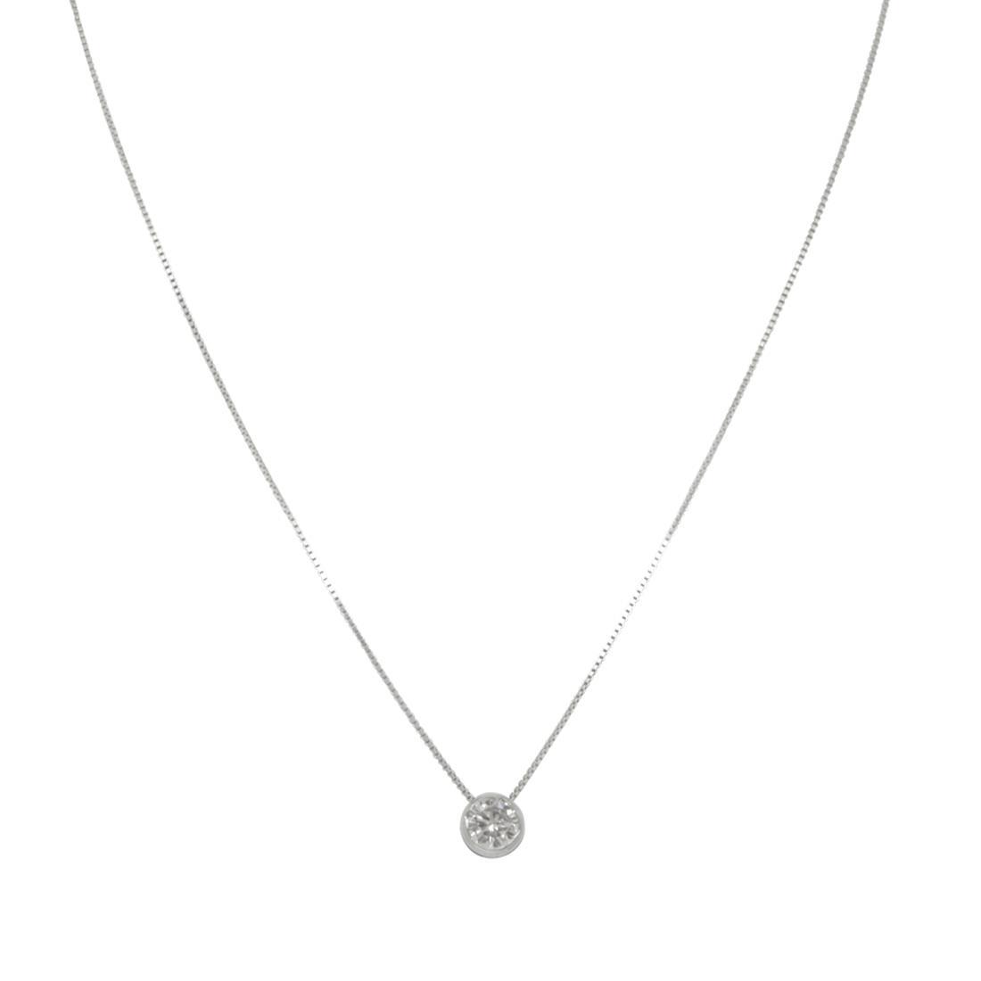 Collana punto luce in oro bianco con diamanti ct 0,29 - ALFIERI & ST. JOHN