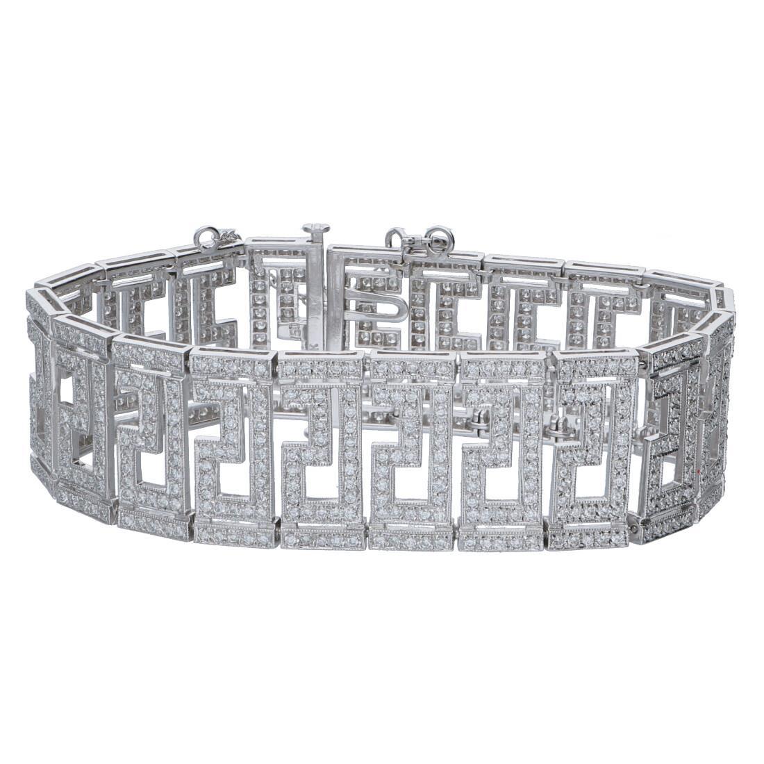 Bracciale design in oro bianco con diamanti ct 7.90 - ORO&CO