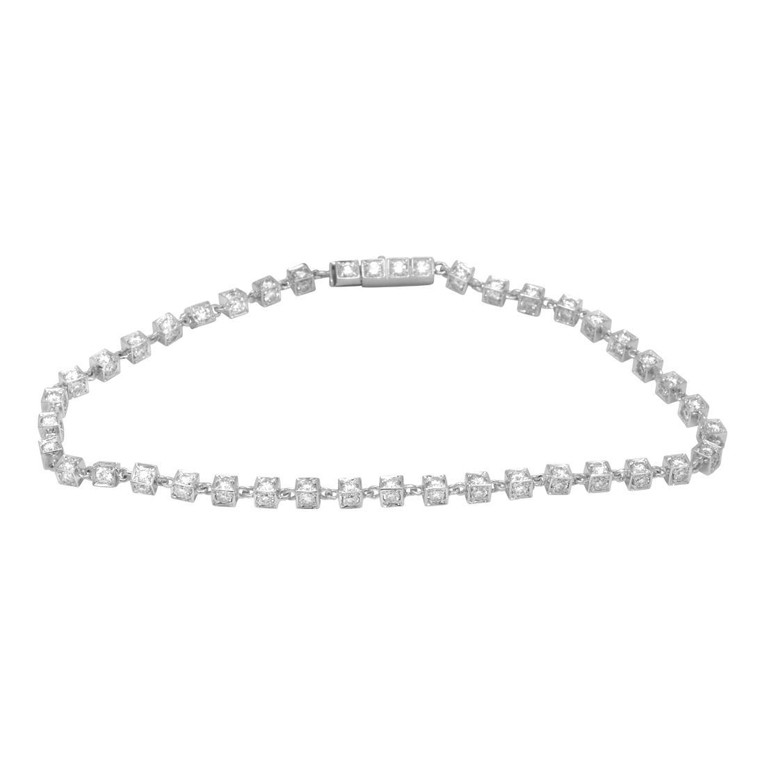 Bracciale in oro bianco con diamanti - ORO&CO