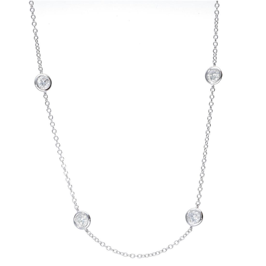 Collana in oro bianco con diamanti ct 2.01 - ORO&CO