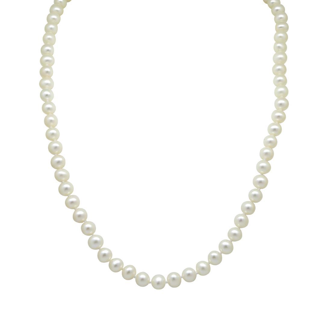 Collana con perle e pietre semipreziose, lunghezza 16cm - RIVIK