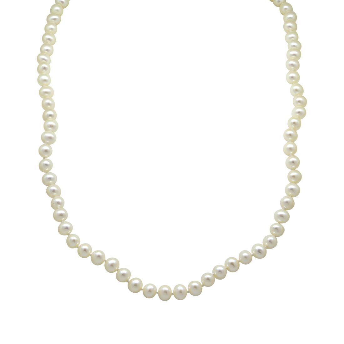 Collana con perle e pietre semipreziose, lunghezza 45 cm + bracciale 19 cm - RIVIK