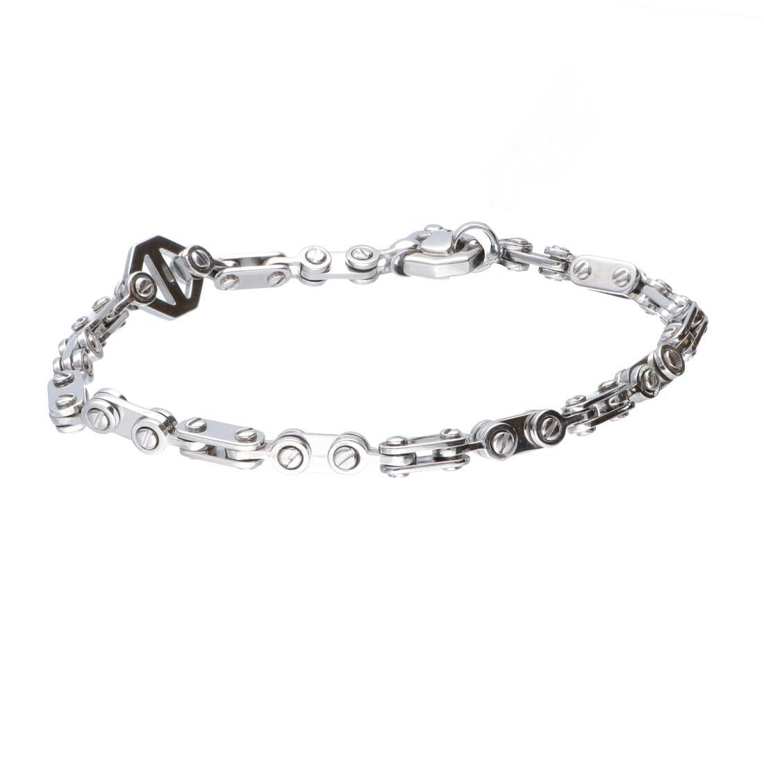 Bracciale da uomo in argento con diamante nero ct 0.02 - BARAKA