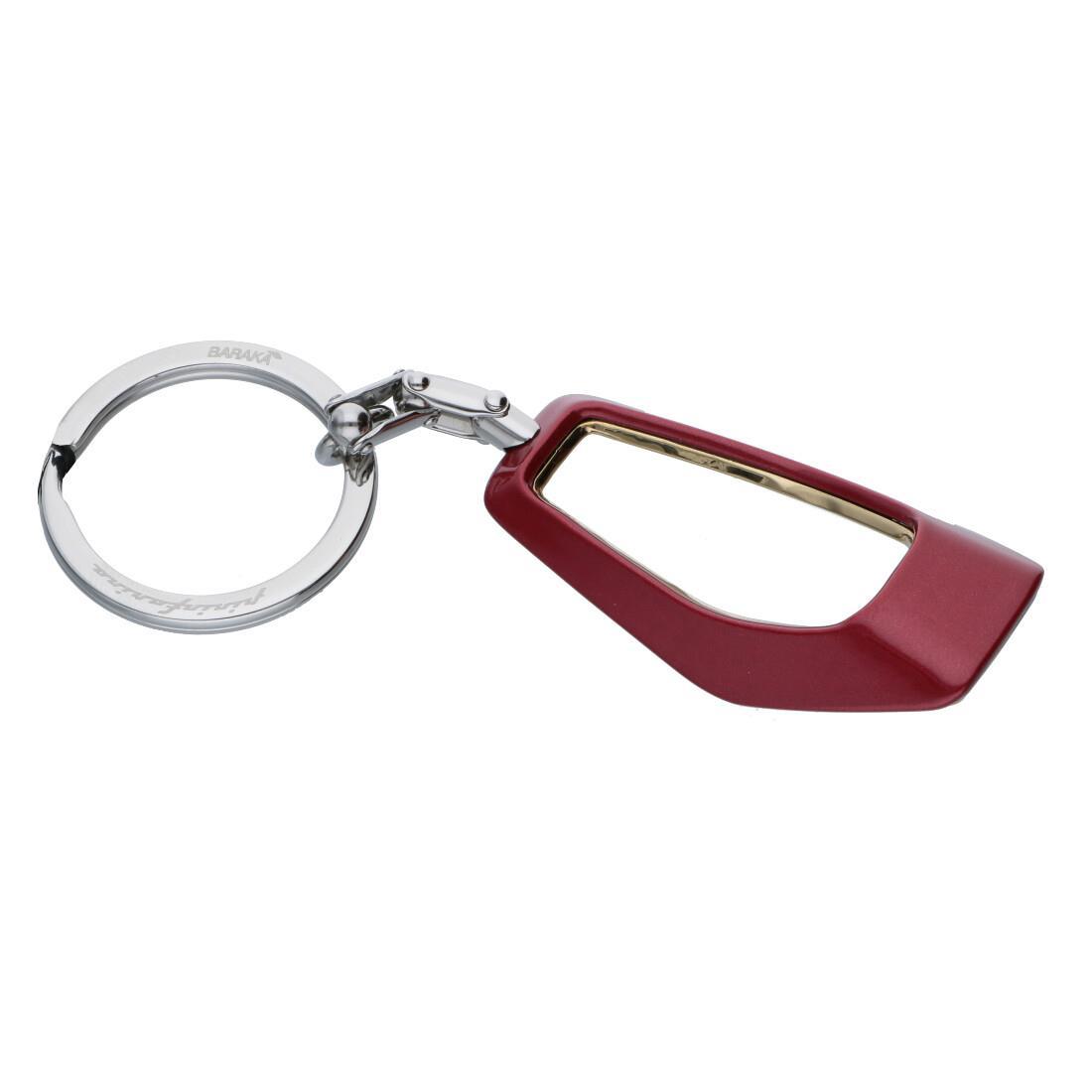 Portachiavi da uomo in acciaio, misura 4,5cm - BARAKA