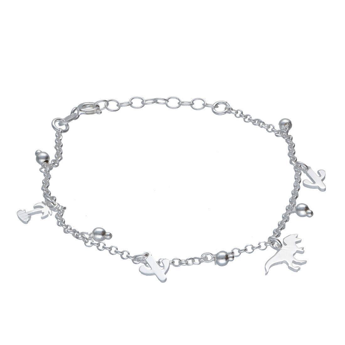 Bracciale in argento con charms - ORO&CO 925