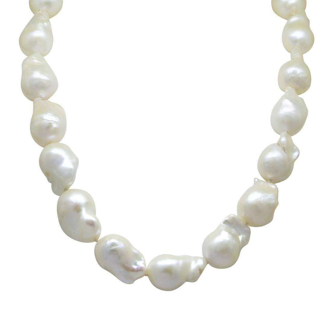 Collana con perle e pietre semipreziose, lunghezza 51cm - RIVIK