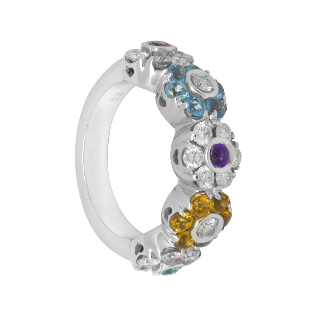 Anello in oro bianco con diamanti ct 1.30 - PASQUALE BRUNI