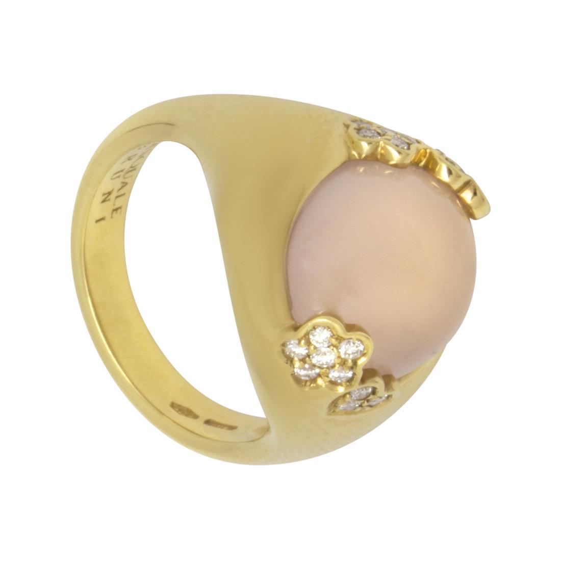 Anello design in oro giallo con diamanti - PASQUALE BRUNI