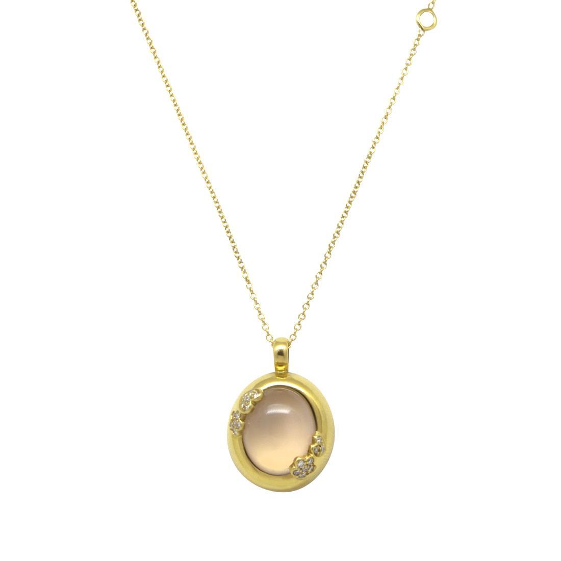 Collana in oro giallo con diamanti e rubini  - PASQUALE BRUNI