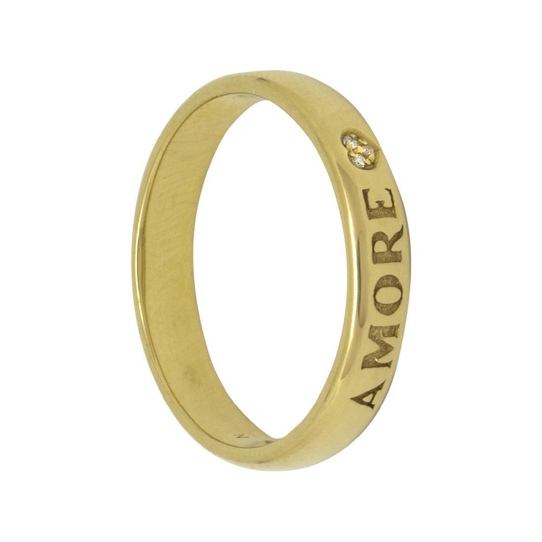 Anello in oro giallo con diamante - PASQUALE BRUNI