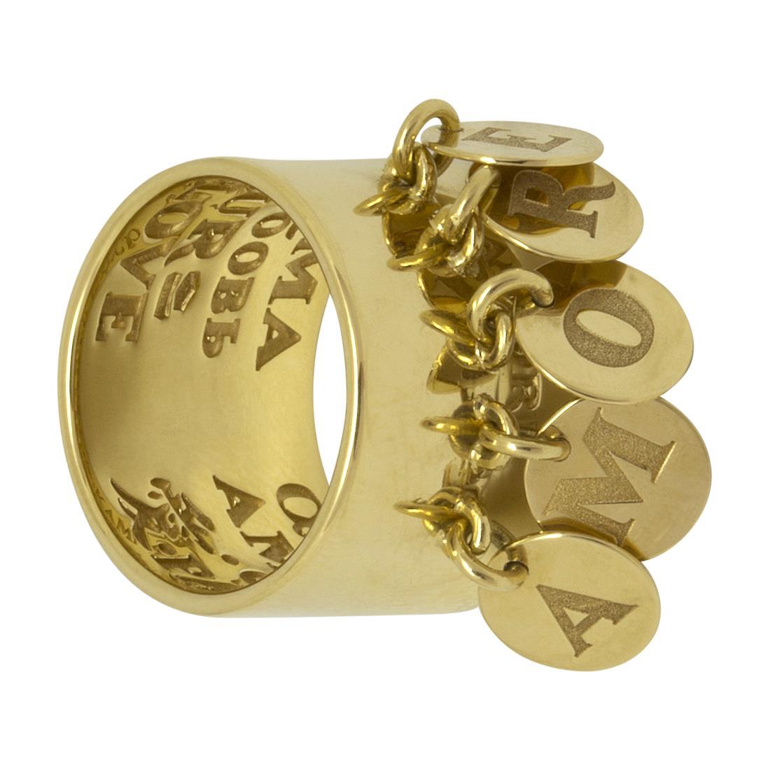 Anello in oro giallo medaglia amore - PASQUALE BRUNI