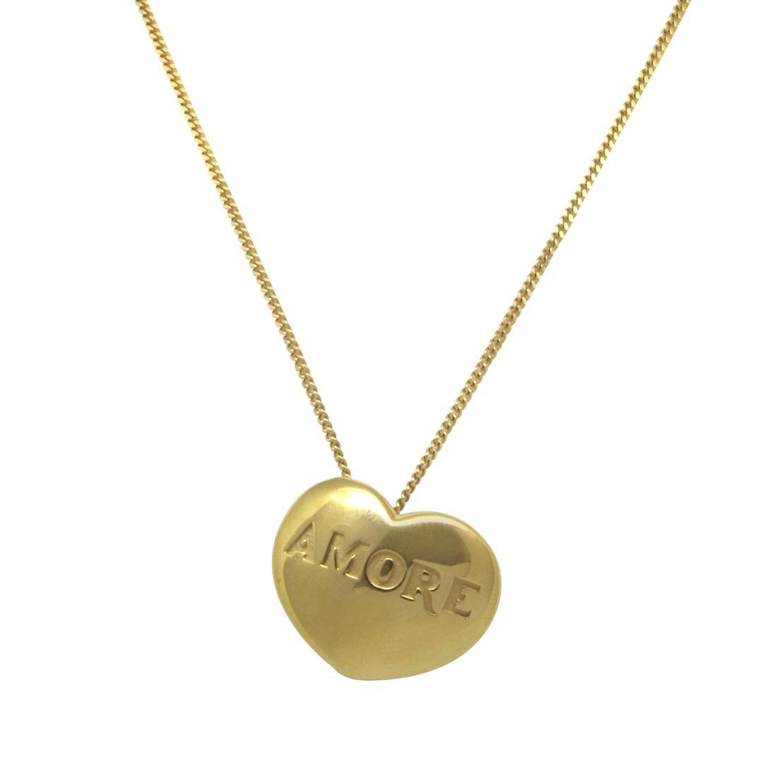 Collana in oro giallo con pendente cuore - PASQUALE BRUNI