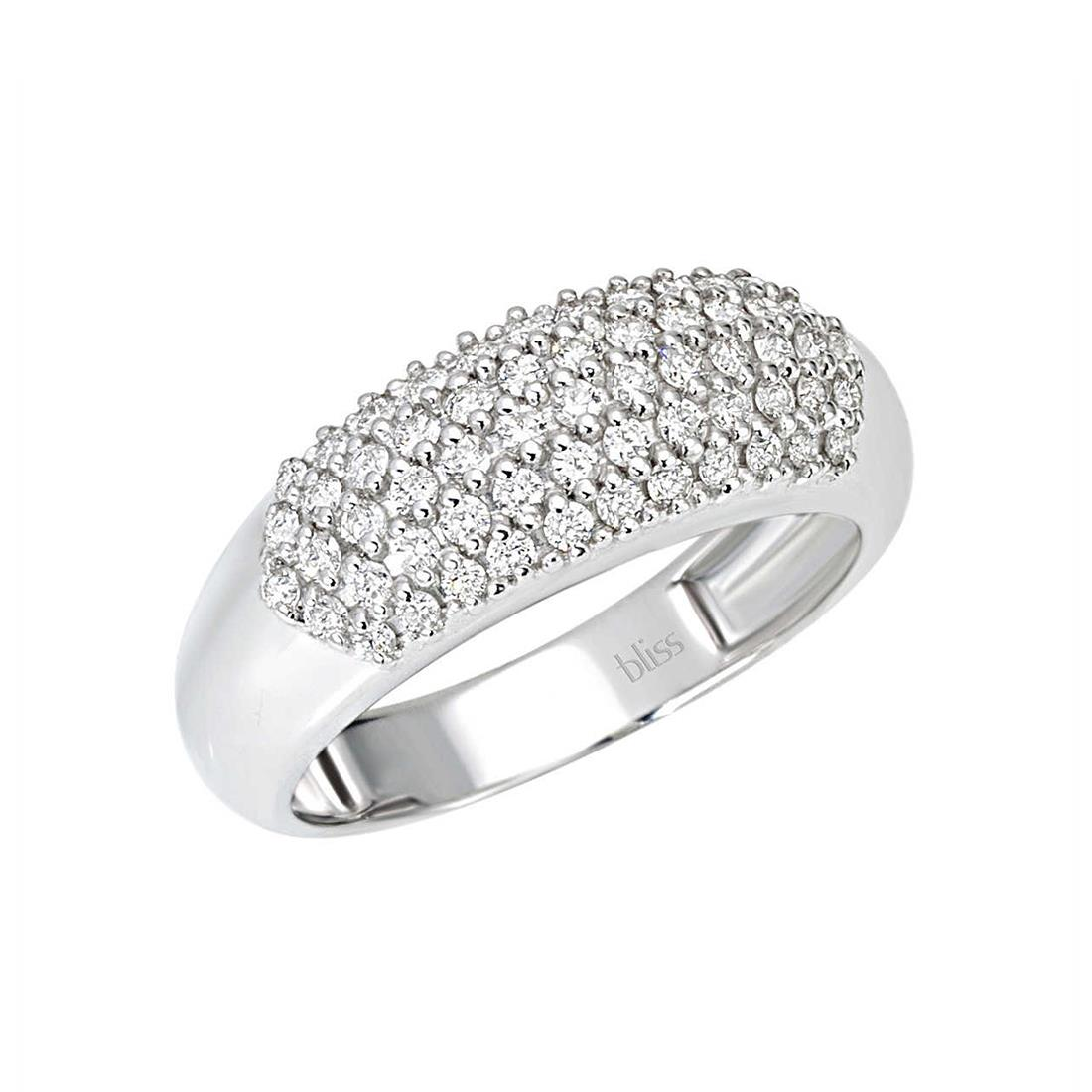 Anello in oro bianco con diamanti  - BLISS