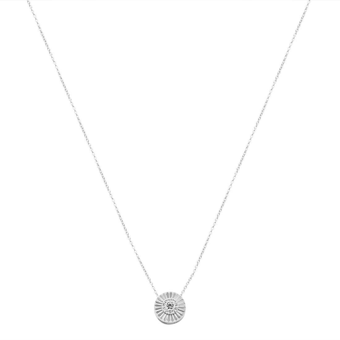 Collana in oro bianco con diamanti ct. 0,06 - BLISS
