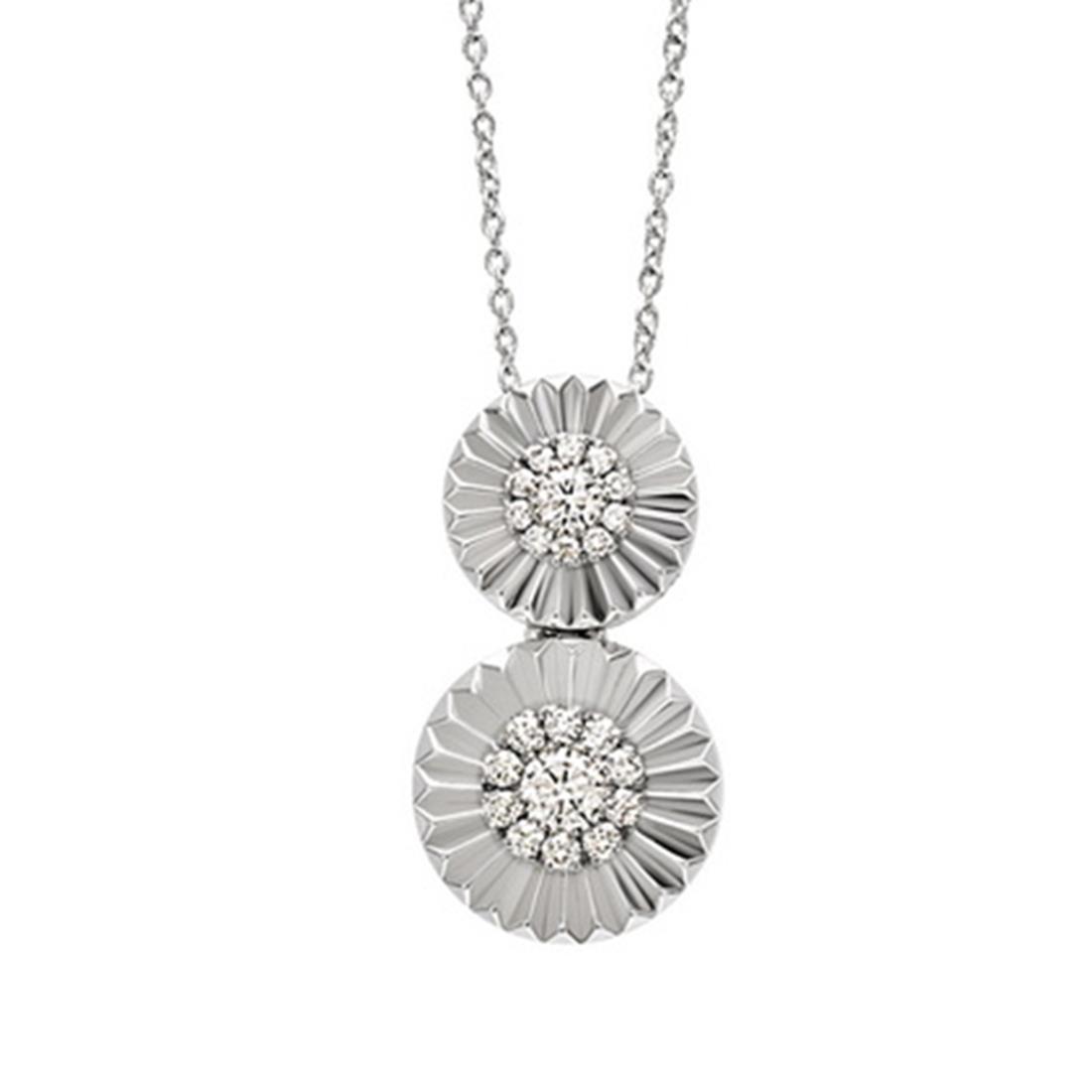Collana con pendente con diamanti ct. 0,18 - BLISS