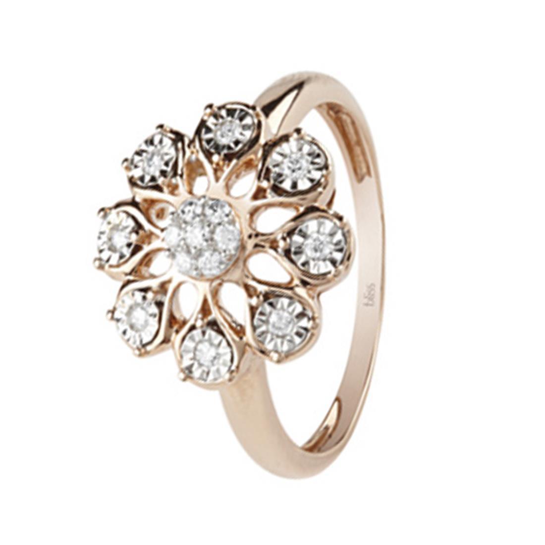 Anello con diamanti ct. 0,12 - BLISS