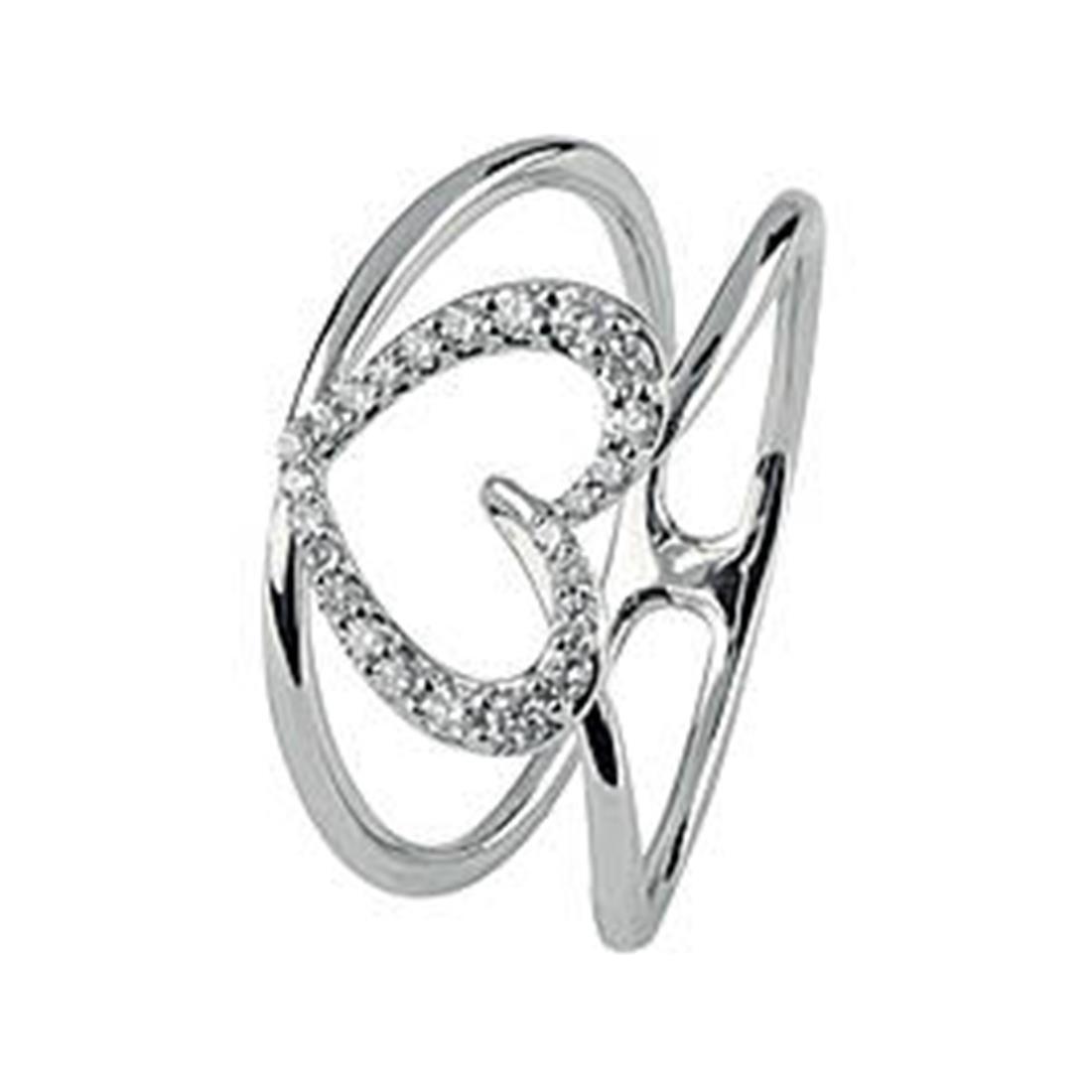Anello in oro bianco con diamanti 0.09 ct - BLISS