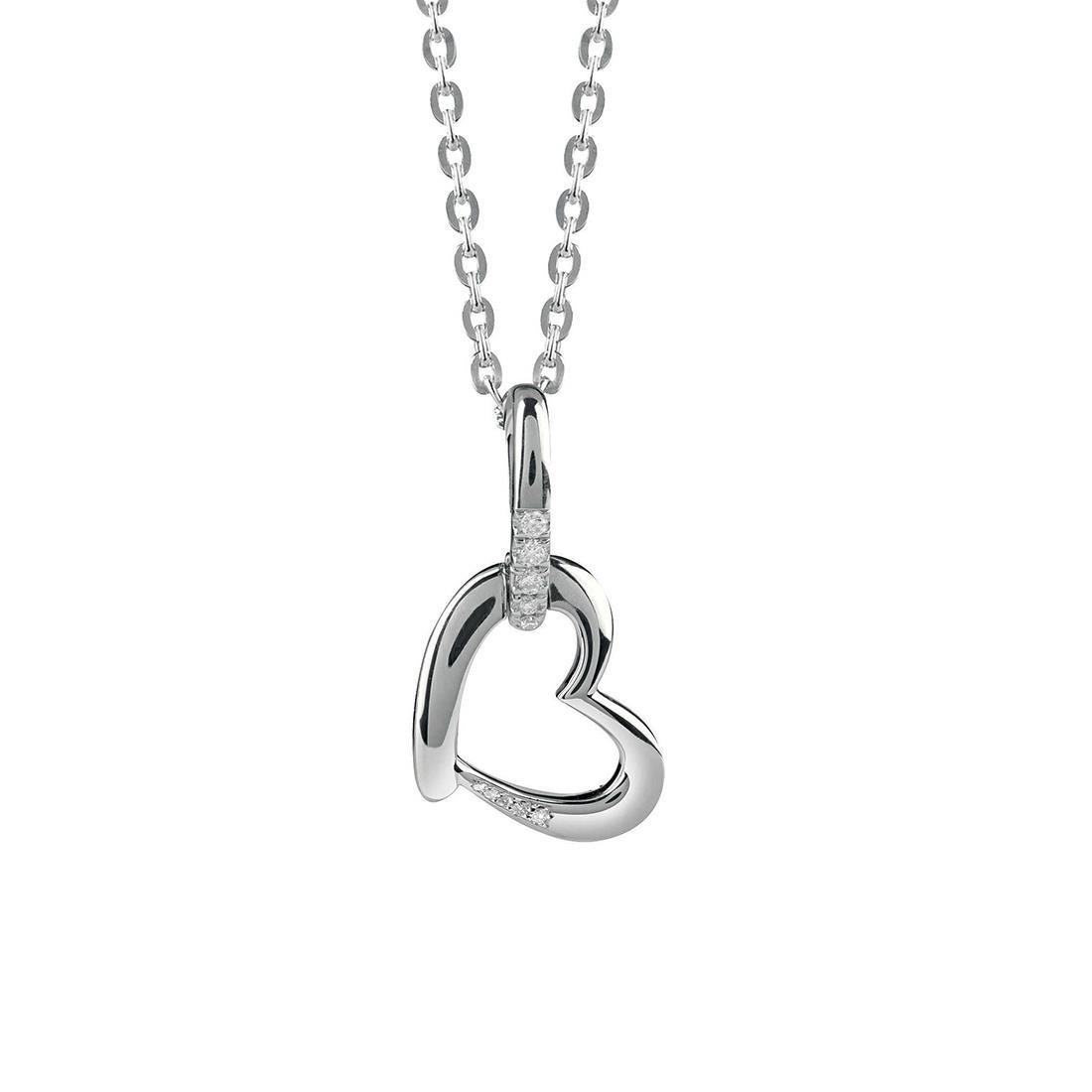 Collana in oro bianco con diamanti 0.07 ct - BLISS