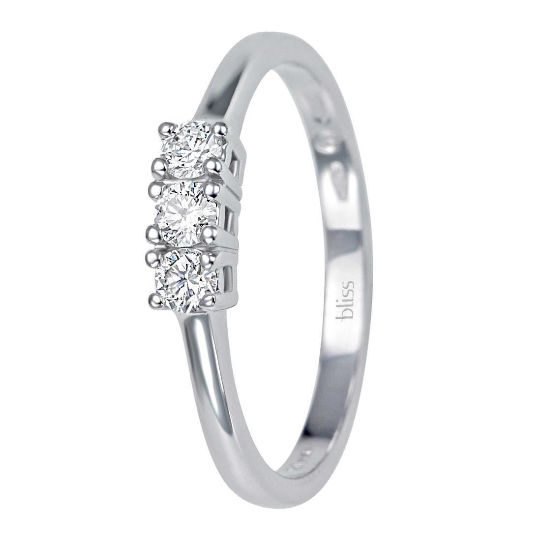 Anello trilogy con diamanti 0.12 ct - BLISS