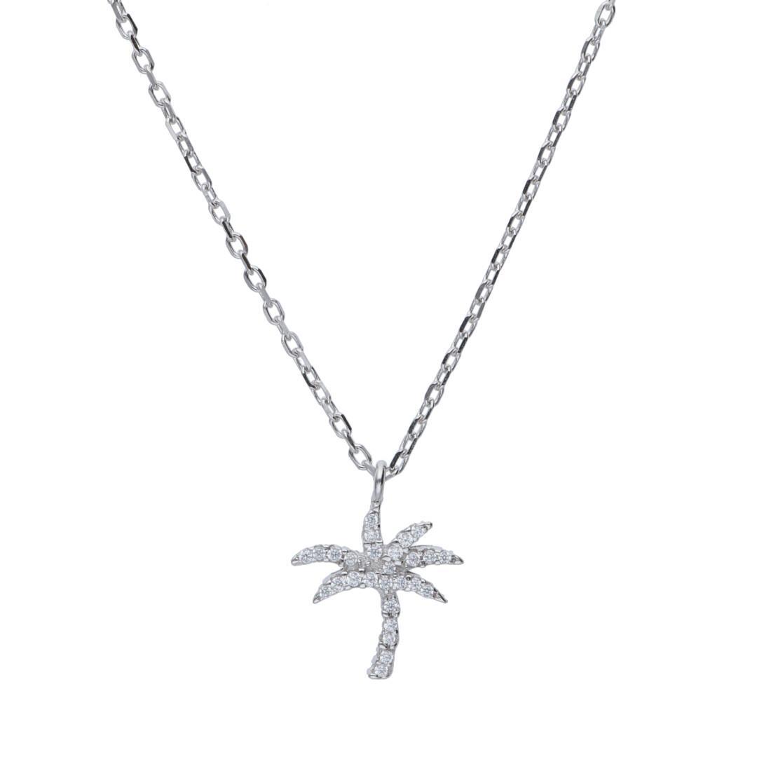 Collana in argento con pendente palma - ORO&CO 925