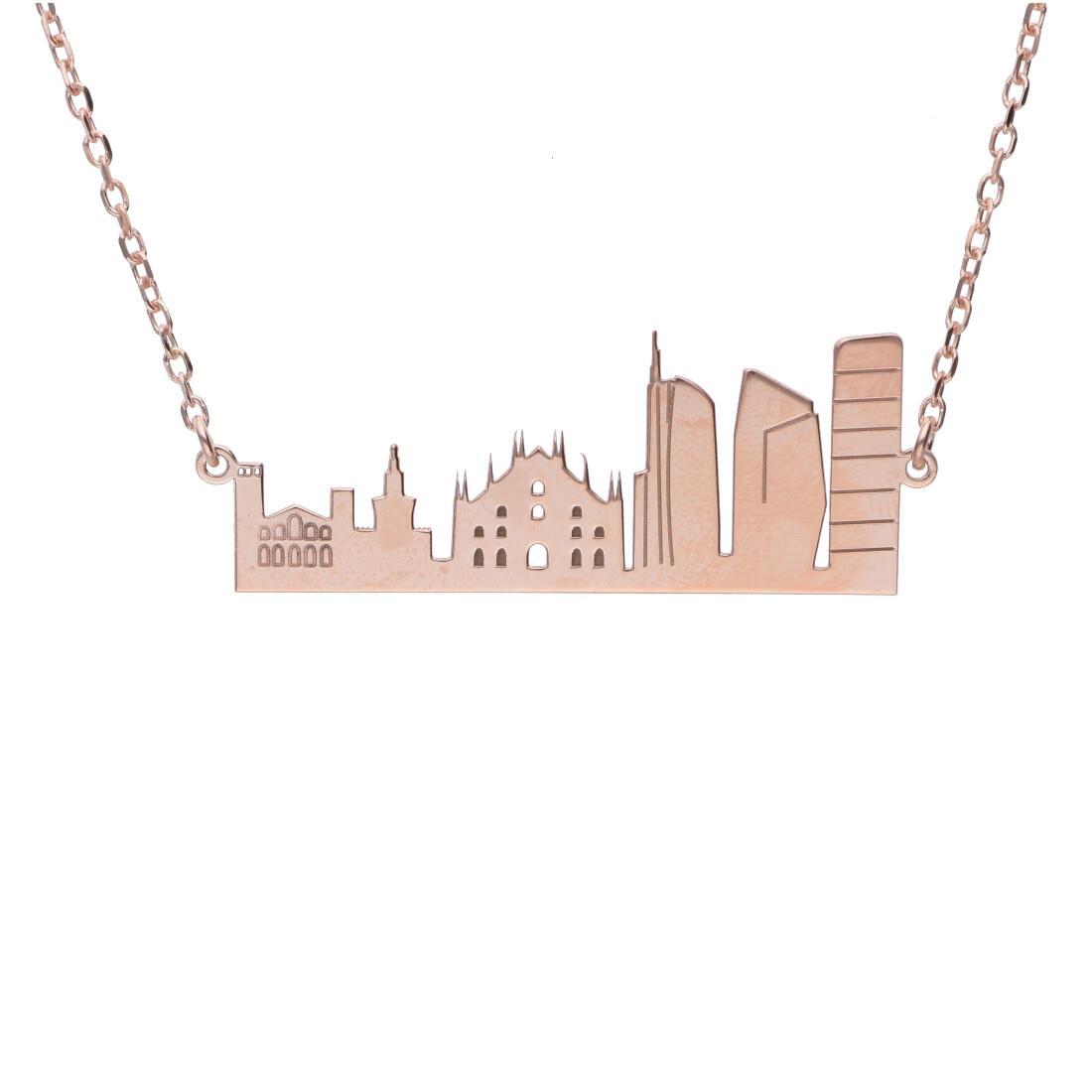 Collana in argento rosato Milano - ORO&CO 925