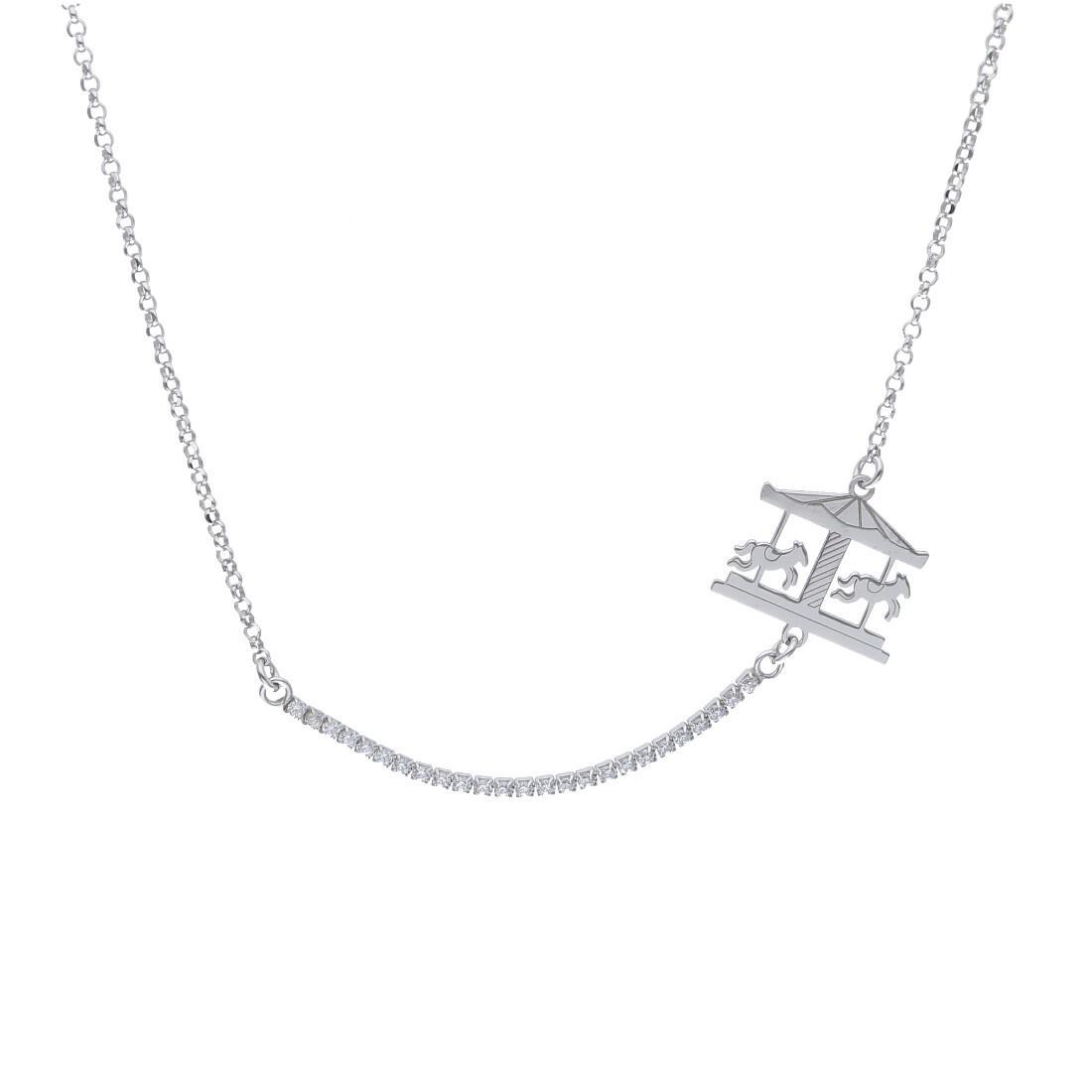 Collana in argento con zirconi - ORO&CO 925