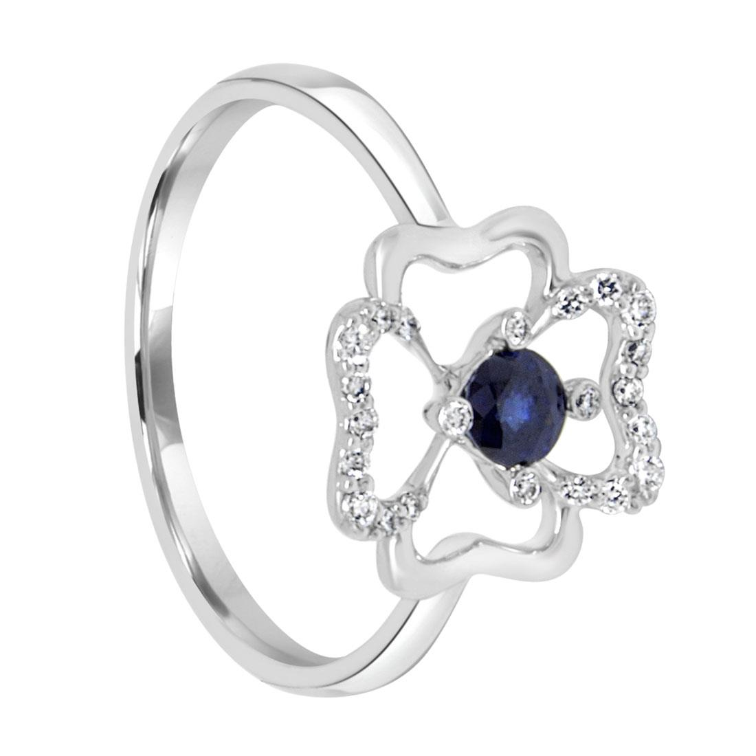 Anello con diamanti e zaffiro - BLISS