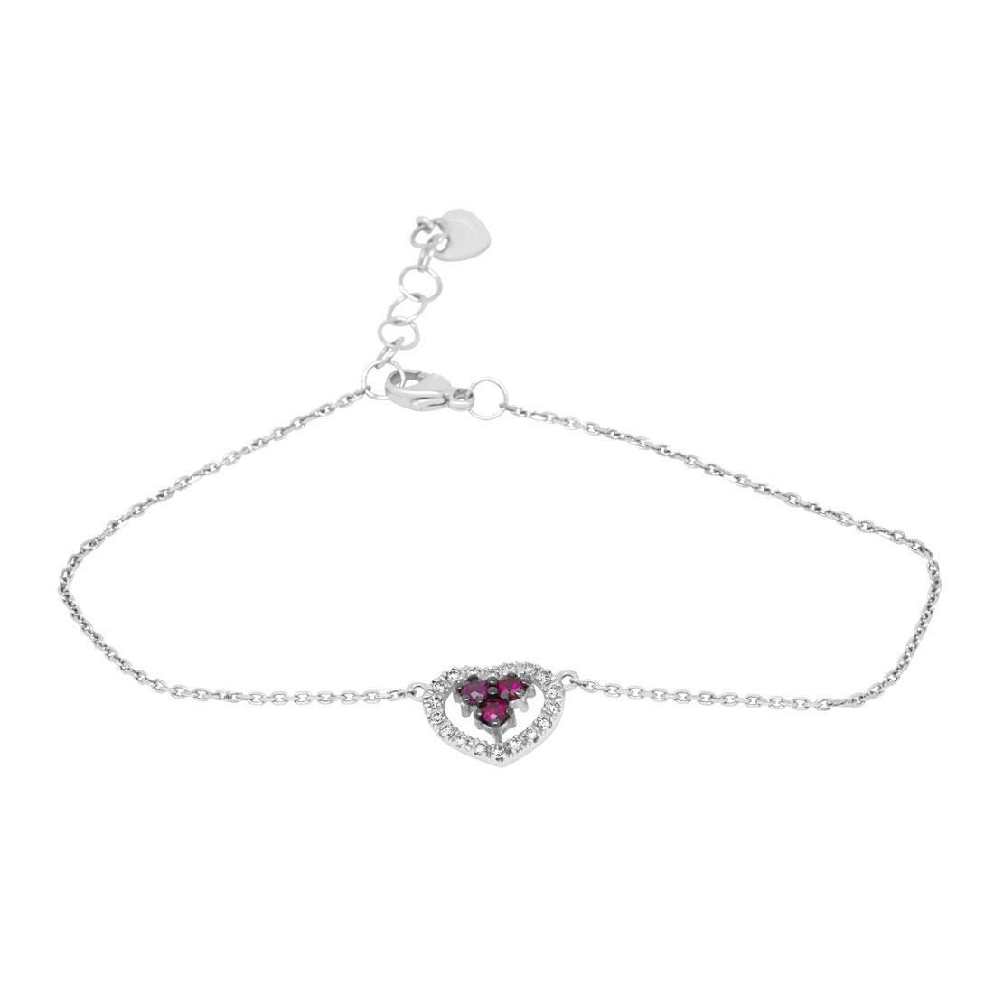 Bracciale con diamanti e rubini - BLISS