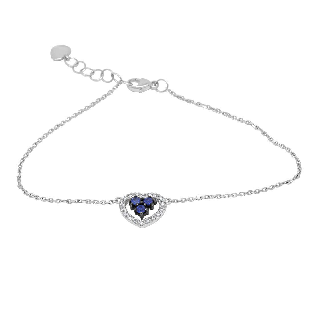 Bracciale con diamanti e zaffiri - BLISS