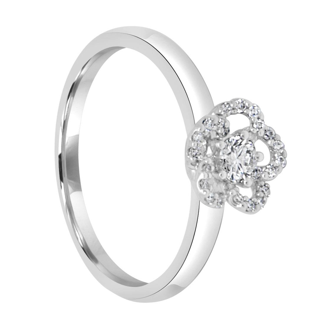 Anello in oro bianco con diamanti 0.19 ct - BLISS