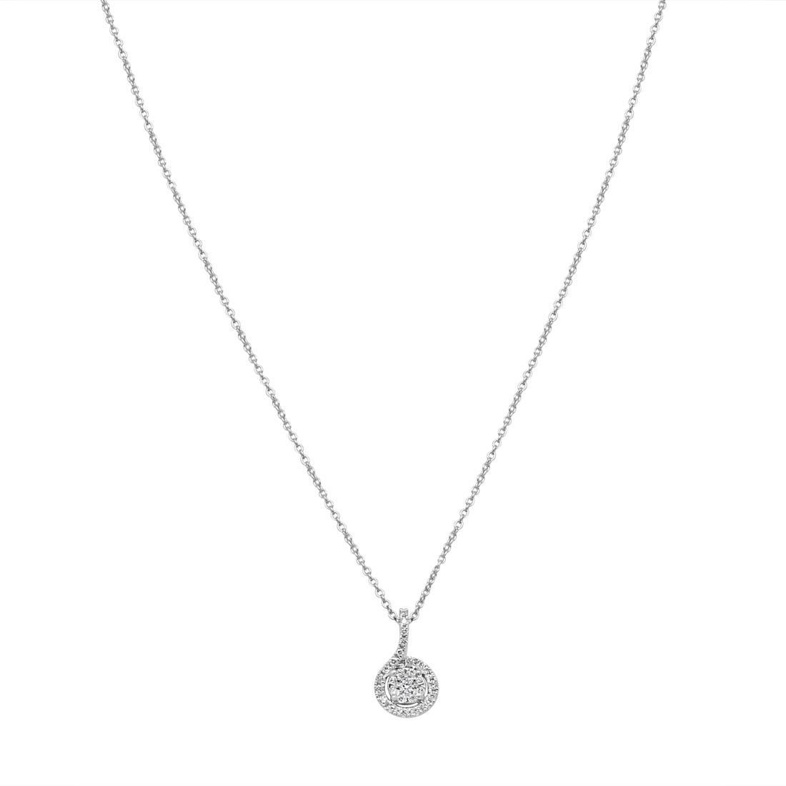 Collana con pavé di diamanti 0.32 ct - BLISS