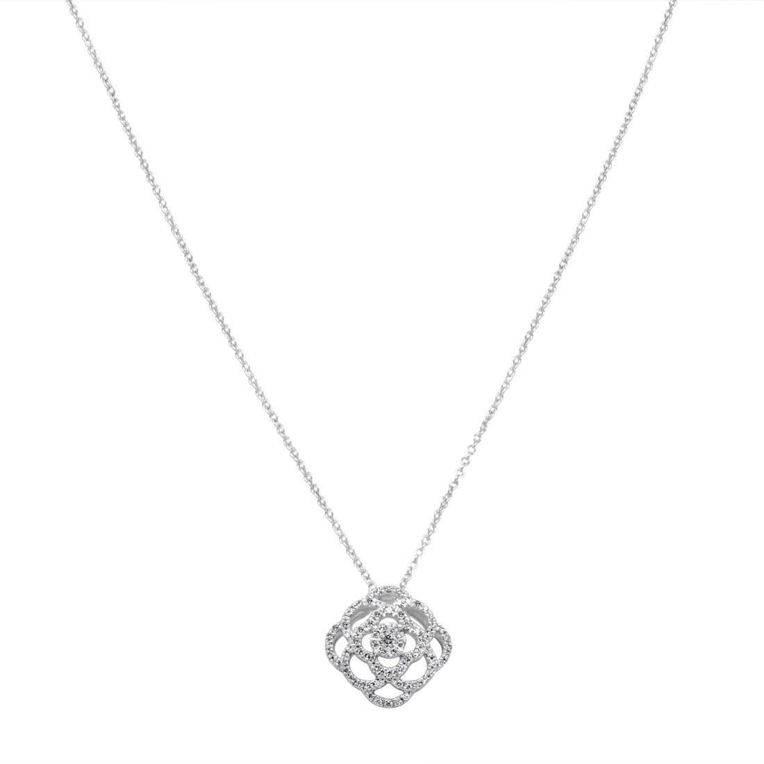 Collana in oro bianco con diamanti 0.37 ct - BLISS