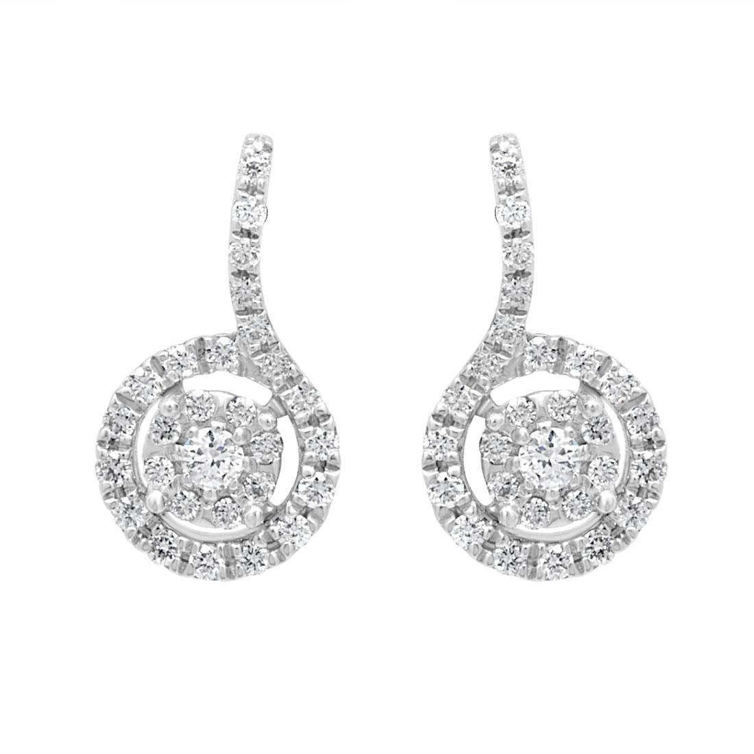 Orecchini con pavé di diamanti 0.30 ct - BLISS