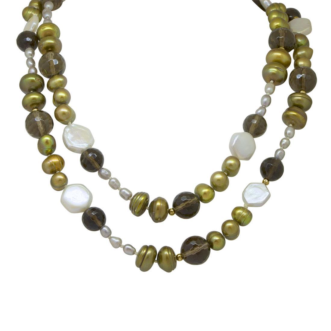 Collana in argento con perle - RIVIK