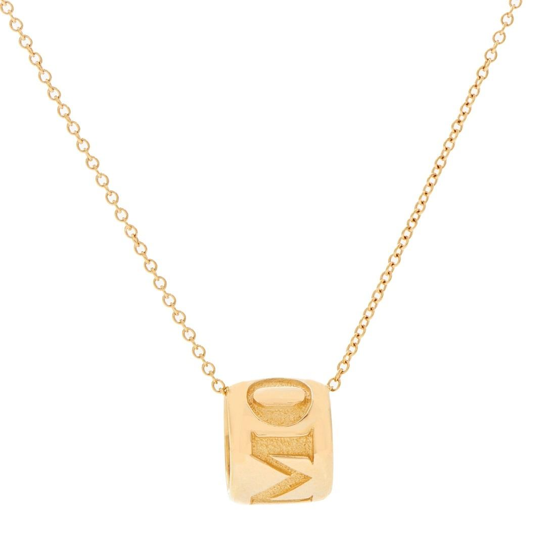 Collana con pendente in oro rosso - PASQUALE BRUNI