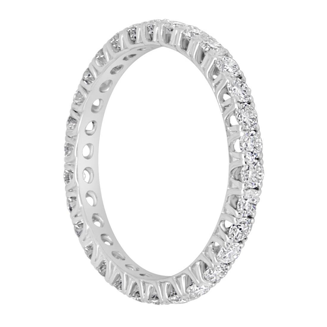 Anello eternity con diamanti ct. 1,09 - ALFIERI & ST. JOHN