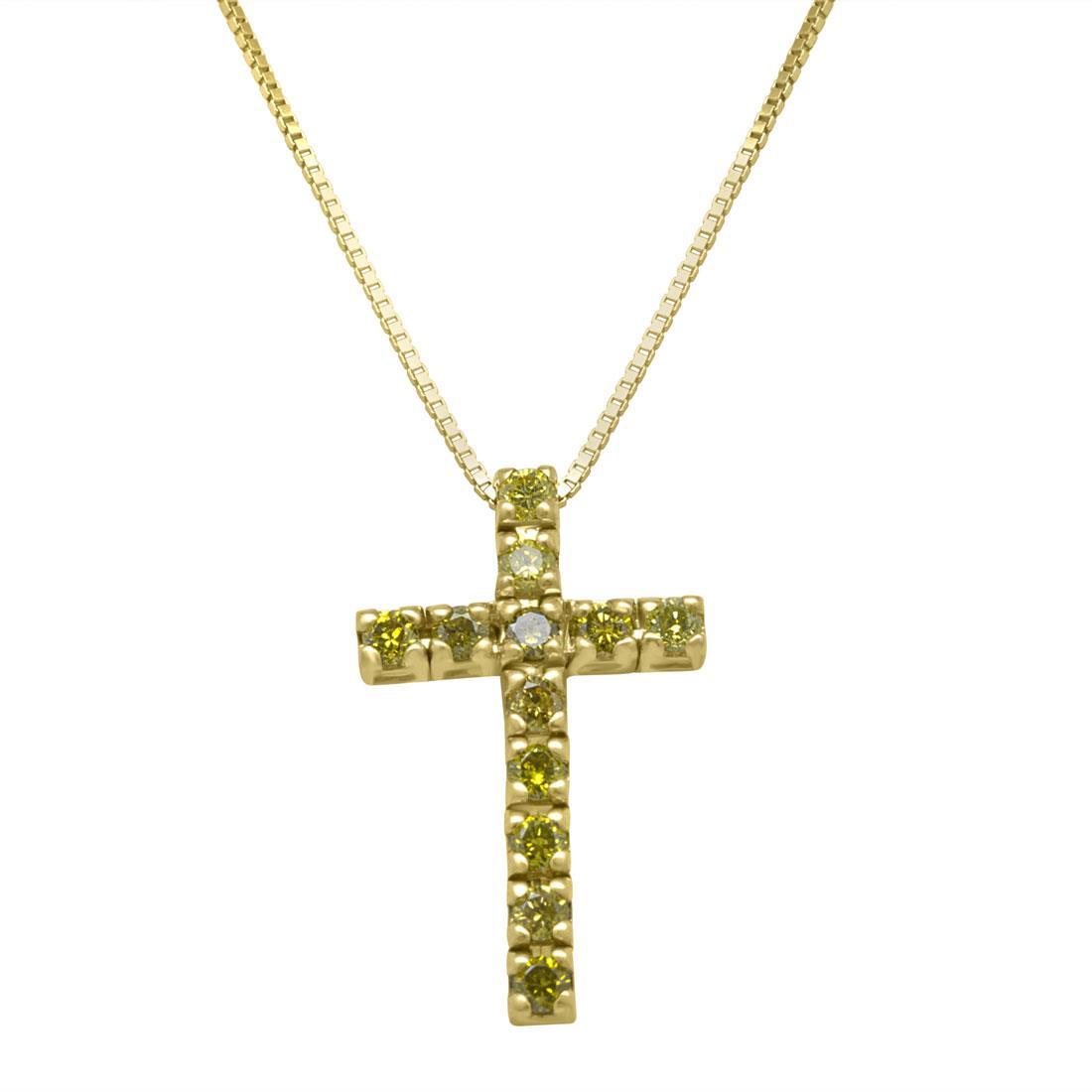 Collana in oro con croce - ALFIERI & ST. JOHN