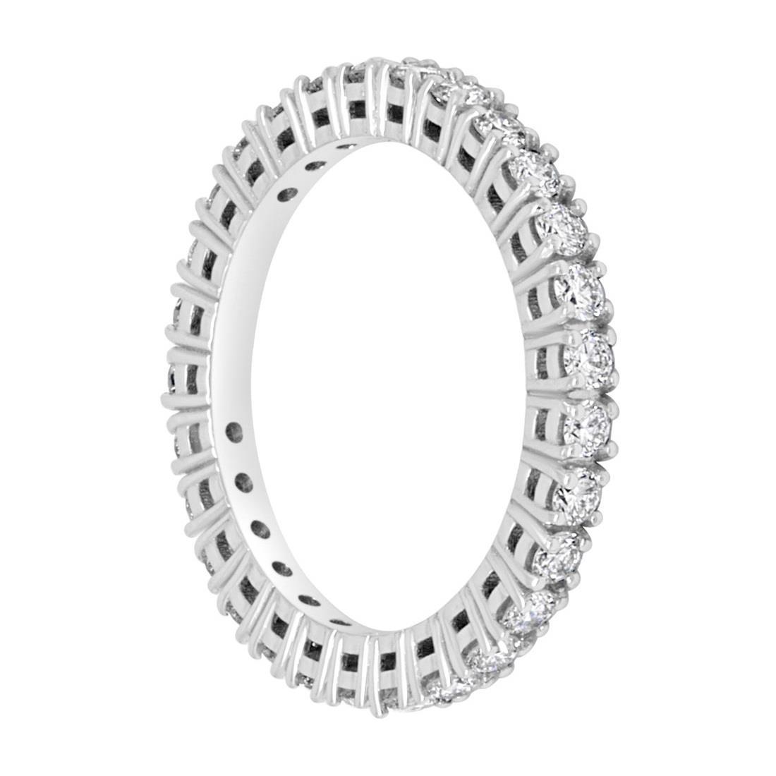 Anello eternity in oro bianco e diamanti ct 0.86 - ALFIERI & ST. JOHN