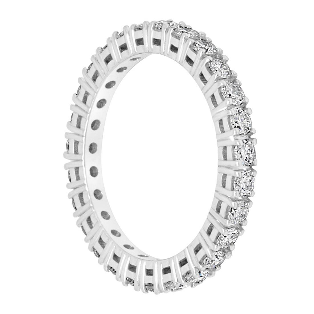Anello eternity in oro bianco e diamanti ct 0.91 - ALFIERI & ST. JOHN