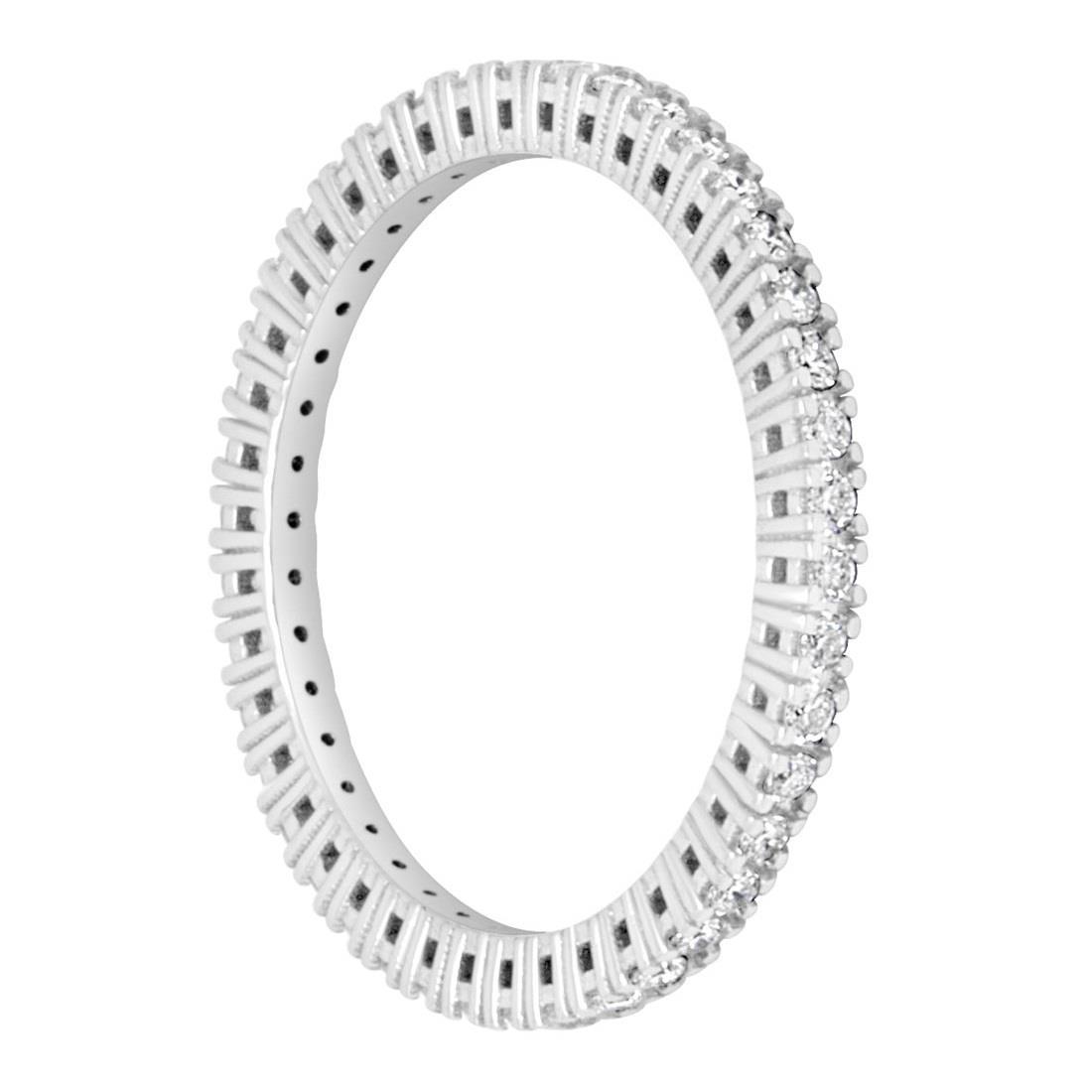 Anello eternity con diamanti ct. 0,38 - ALFIERI & ST. JOHN