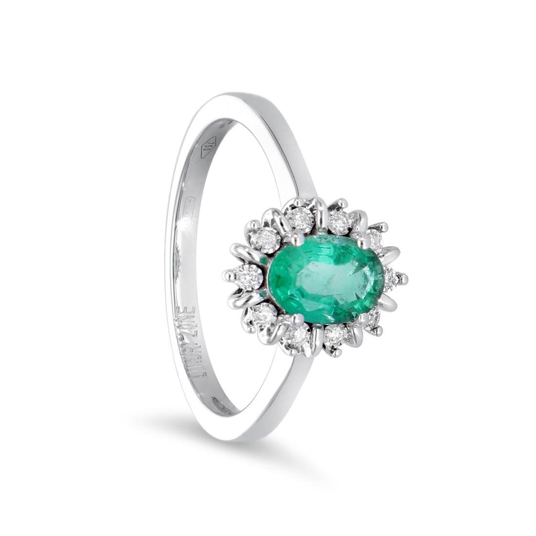Anello con smeraldo e diamanti - LUXURY ZONE
