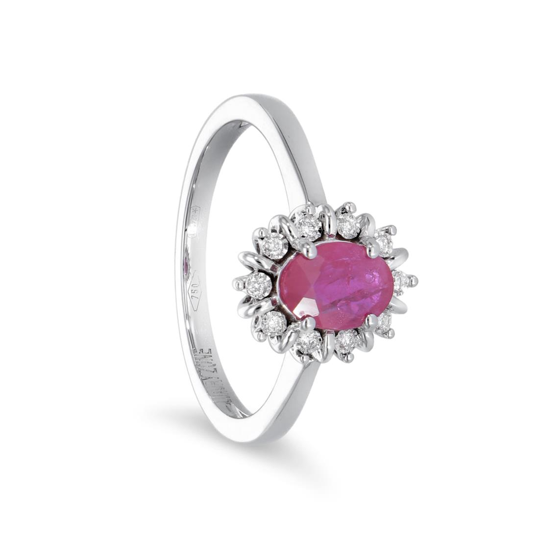 Anello con rubini e diamanti - LUXURY ZONE