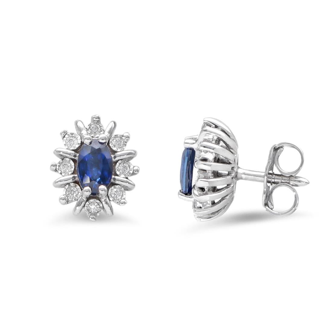 Orecchini con zaffiri e diamanti - LUXURY ZONE
