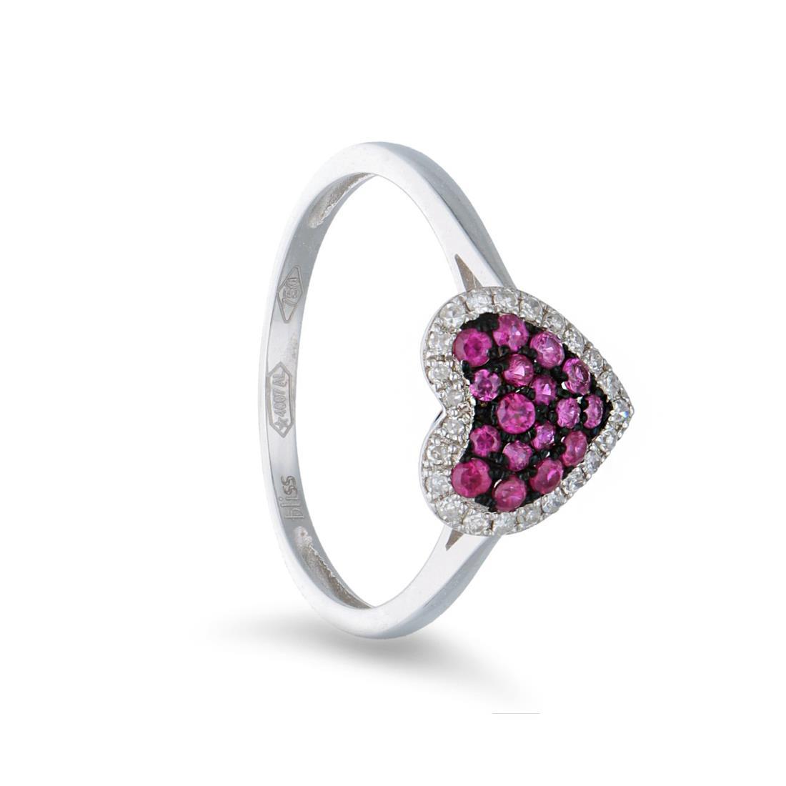 Anello con diamanti e rubini - BLISS