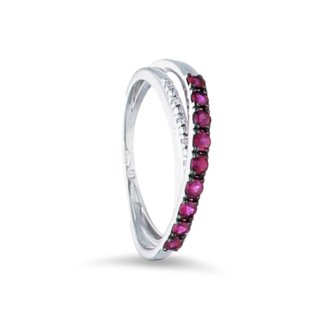 Anello con rubini e diamanti - BLISS