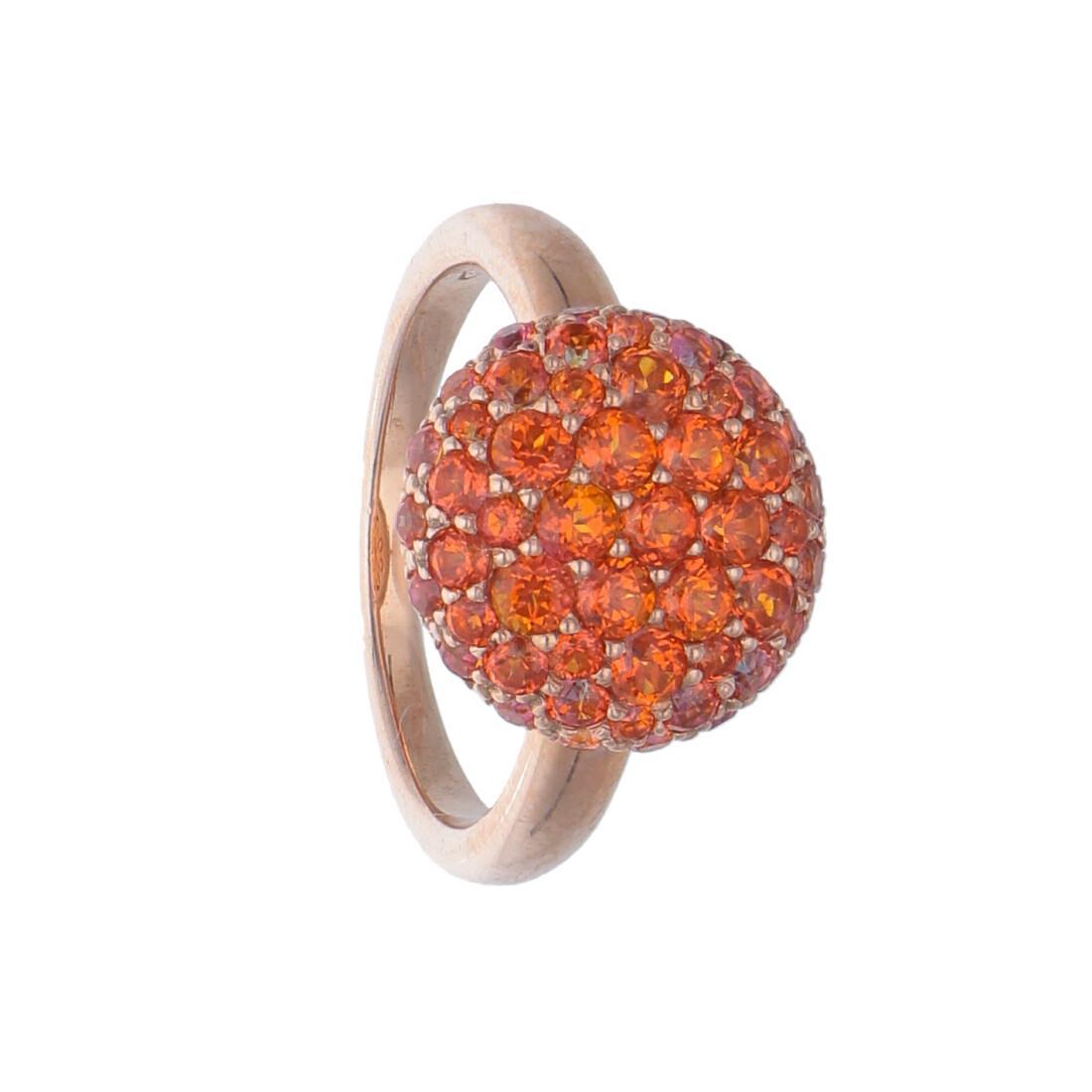 Anello design con topazio arancione - ROBERTO DEMEGLIO