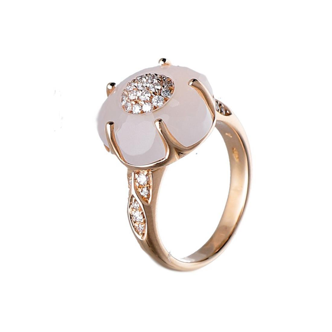 Anello con diamanti e quarzo - PASQUALE BRUNI