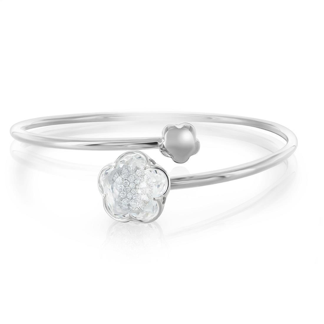 Bracciale con cristallo di rocca e diamanti - PASQUALE BRUNI